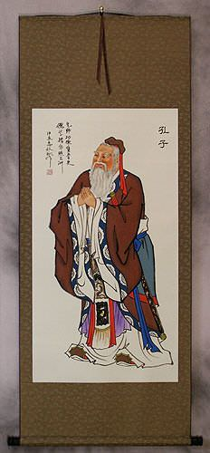 Confucius<br>Wise Teacher<br>Wall Scroll
