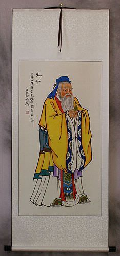 Confucius<br>The Great Sage<br>Wall Scroll