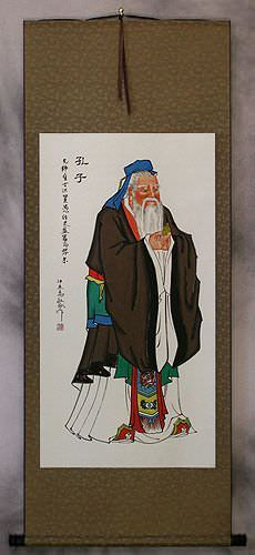 Confucius<br>The Great Wisdom<br>Wall Scroll