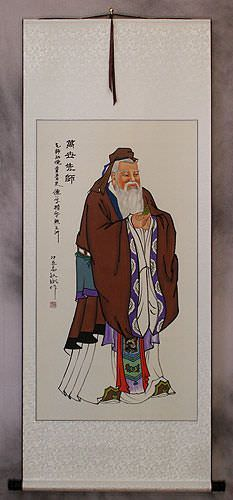 Confucius<br>Wise Philosopher<br>Wall Scroll