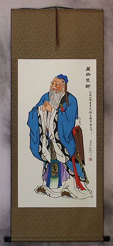 Confucius<br>The Great Thinker<br>Wall Scroll