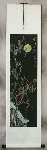 Bamboo and  Moon - Chinese Wall Scroll