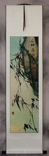 Abstract Chinese Bamboo Wall Scroll