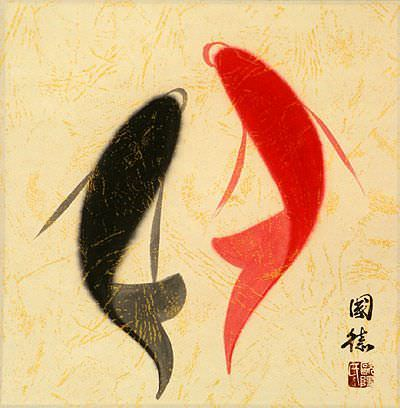 Abstract Yin Yang Fish Picture
