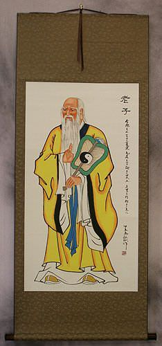 Wise Lao Tzu of China Wall Scroll