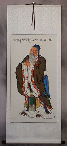 Confucius<br>The Great Philosopher<br>Wall Scroll