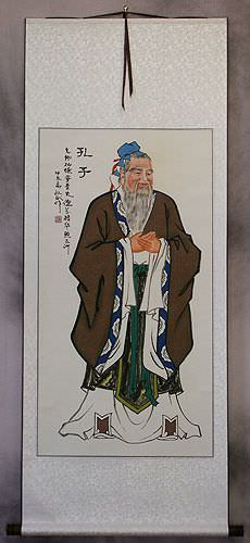 Old Confucius<br>The Great Sage<br>Wall Scroll