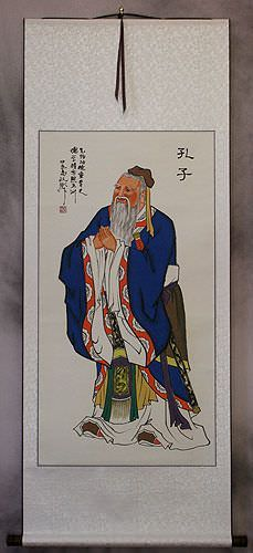 Confucius<br>The Great Teacher<br>Wall Scroll