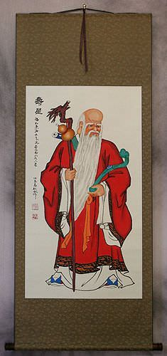 Saint of Longevity<br>Chinese WallScroll