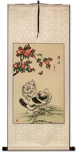 Overflowing Purity Cats / Kittens Wall Scroll