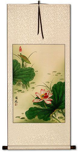 Lotus Flower Wall Scroll
