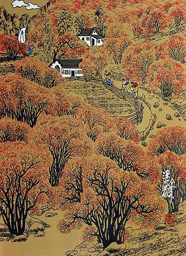 Harvest in the Deep Mountain - Chinese Folk Art Painting