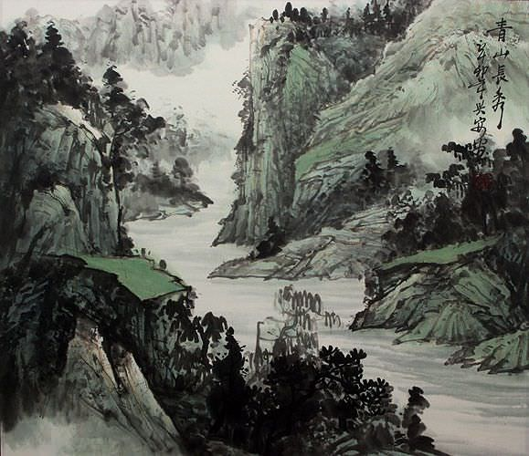 Eternal Beauty of the Mountains - Landscape Painting