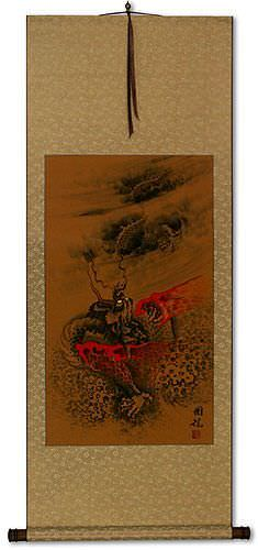 Fierce Chinese Dragon<br>Asian Wall Scroll
