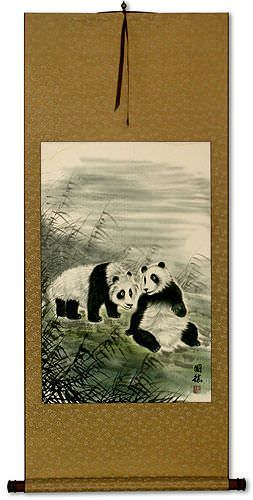 Pandas of China Wall Scroll