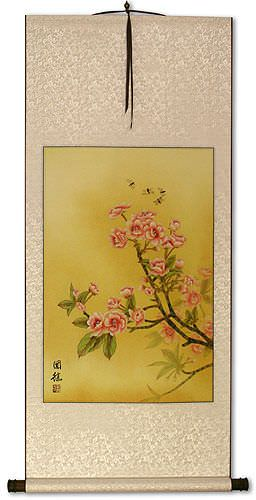 Bees and Flowers Wall Scroll