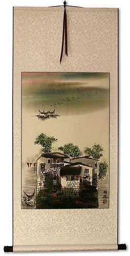 Chinese Suzhou Landscape Wall Scroll
