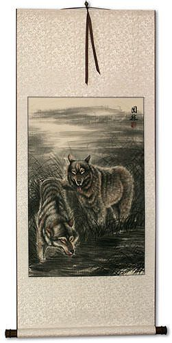Wolf Wall Scroll