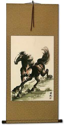 Galloping Horse Wall Scroll