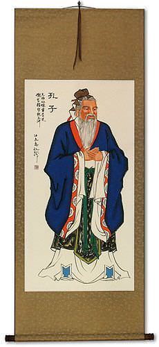 Confucius<br>Wise Man<br>Wall Scroll