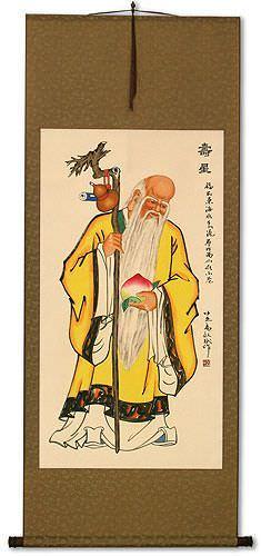 Longevity Saint Chinese Scroll