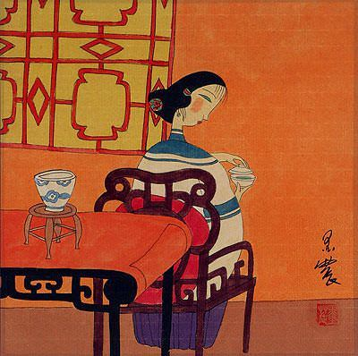 "See how ""Chinese Modern Art Painting"" would look after being professionally framed"