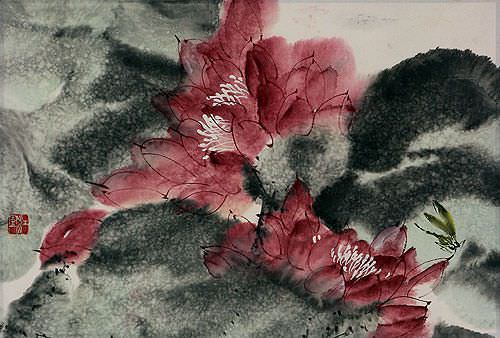 "See how ""Chinese Flower Painting"" would look after being professionally framed"