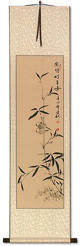 Bamboo Wishing You Are Safe and Sound - Chinese Wall Scroll