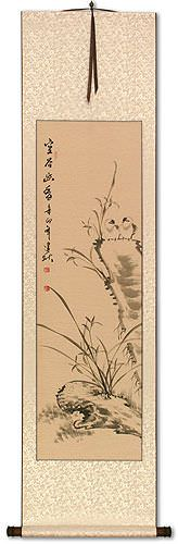 Fragrance of the Valley - Chinese Birds Wall Scroll