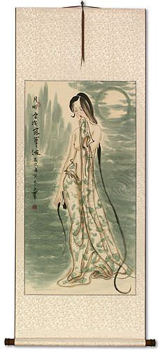 Beautiful Woman of China Wall Scroll