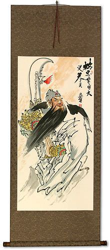 Righteous Patriot Warrior - Chinese Wall Scroll
