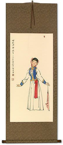 Dancing Girl - Wall Scroll