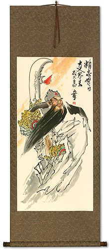 Righteous Patriot Warrior<br>Chinese Wall Scroll