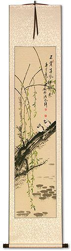 Willow Tree in the Spring<br>Wall Scroll