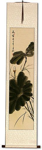 Fragrance of Lotus<br>Asian Bird and Flower Wall Scroll