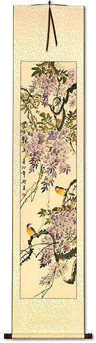 Purple Cloud, Fragrant Breeze<br>Chinese Wall Scroll