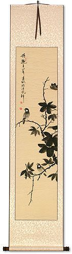 Birds Fun<br>Wall Scroll
