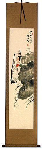 Beautiful Asian Woman Wall Scroll