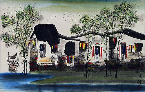 Birds Over Suzhou<br>Chinese Venice Painting