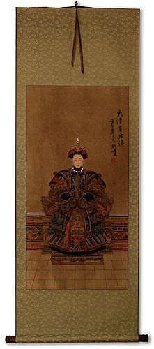 Empress Ancestor of China - Partial-Print Wall Scroll