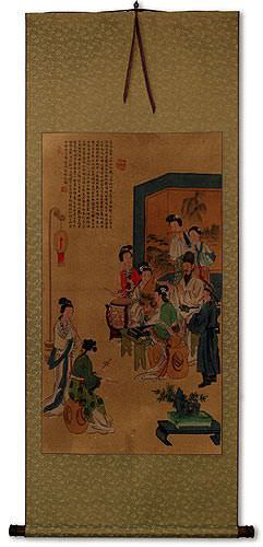 Musicians<br>Partial-Print Wall Scroll