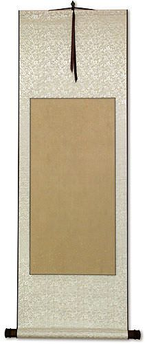 Blank Tan/White Wall Scroll