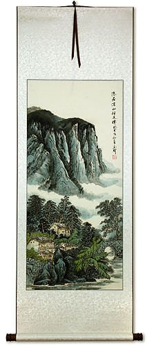 Chinese Landscape Wall Scroll
