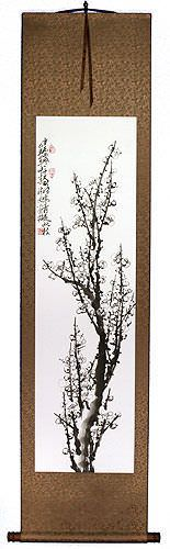 Traditional Chinese Plum Blossom Wall Scroll