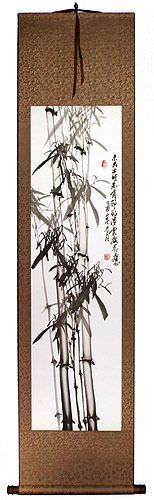 Traditional Chinese Bamboo Silk Wall Scroll