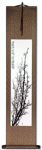 Traditional Asian Plum Blossom Wall Scroll