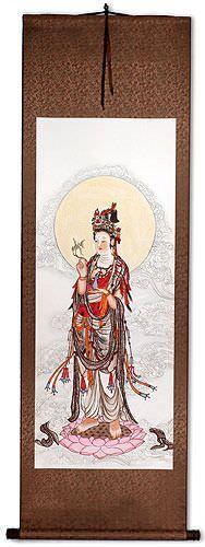 Guanyin Buddha Wall Scroll