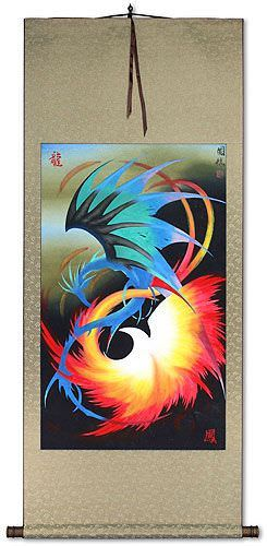 Dragon and Phoenix<br>Wall Scroll