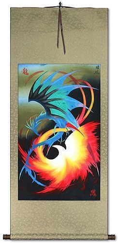 Asian Dragon and Phoenix<br>Wall Scroll