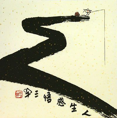 Gone Fishing for Life<br>Ancient Chinese Philosophy Picture